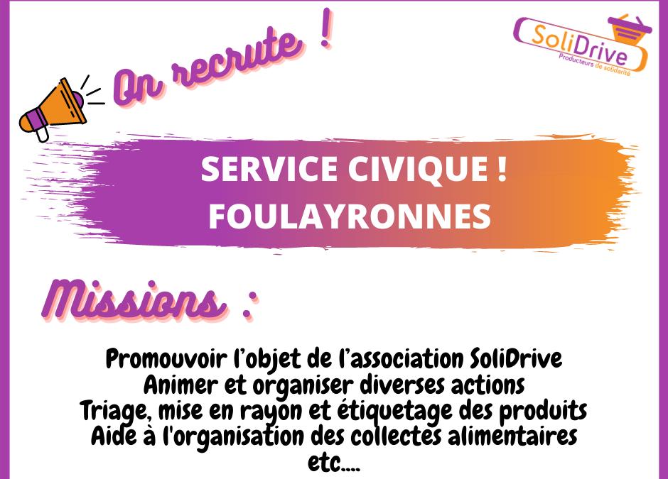 SoliDrive Foulayronnes recrute une personne en service civique !