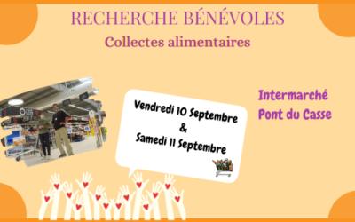Collecte alimentaire Intermarché Pont du Casse